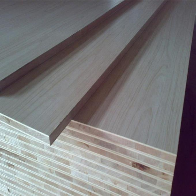 Melamin Covered Laminated Block Board For Making Solid Core Flush Doors