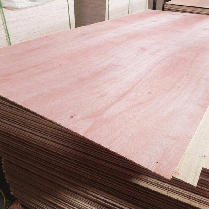2mm To 20mm Commercial Plywood Poplar Core Natural Okoume Wood Veneer