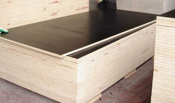 15mm Black Brown Concrete Shuttering Plywood One Time Hot Press Poplar Core