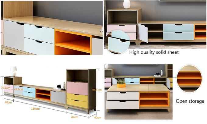 Multi - Function Melamine Particle Board TV Stand Home Living Room Furniture