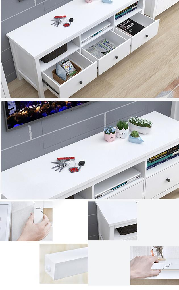 Melamine Particle Board TV Stand Modern Classic Simple Living Room Furniture
