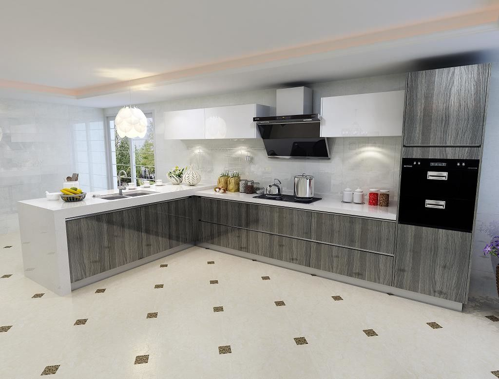 Environmental Friendly Particle Board Kitchen Cabinets ...