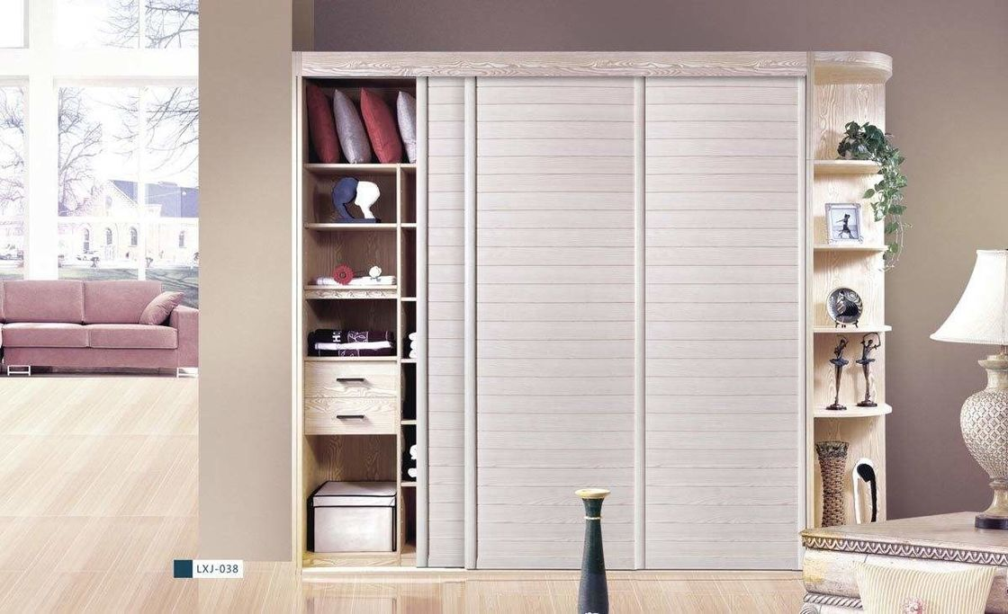 Residential Mdf Board Wardrobe Particle Bedroom Furniture Cloth Cabinet