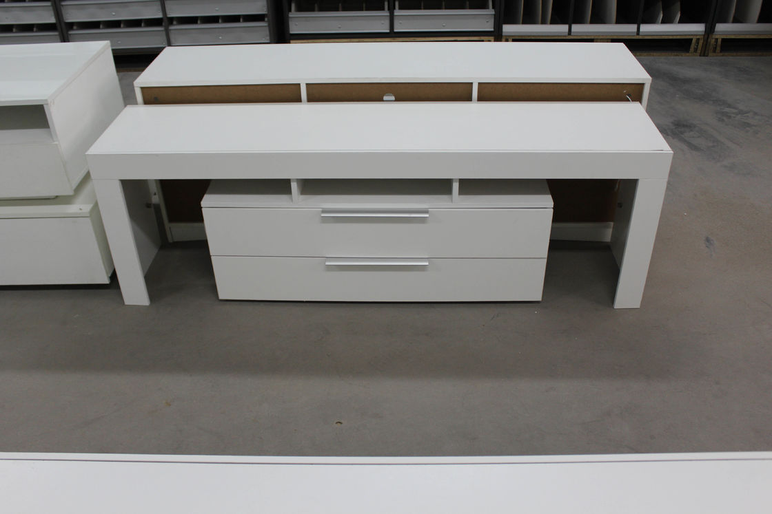 High Gloss White Wood Tv Stand Residential Using Solid Wood Corner Tv Cabinet