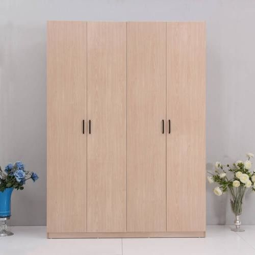No Decay Plywood Bedroom Wardrobe , Particle Board Furniture Closet Easy Work