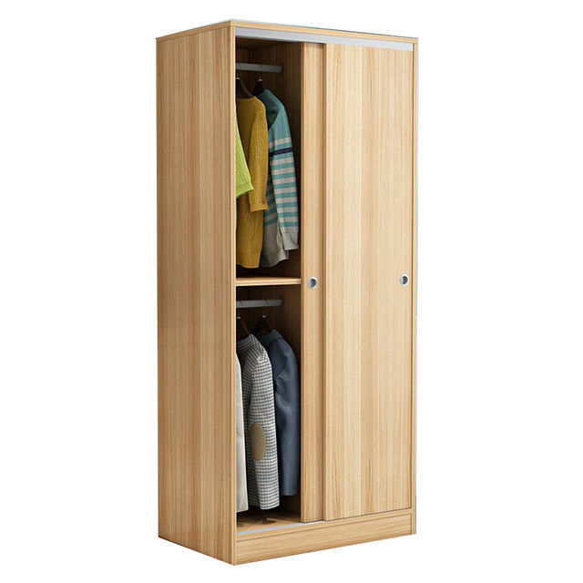 Laminated Particle Board Wardrobe Cabinets White Sliding Door Wardrobe