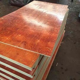 China Waterproof Red Film Faced Plywood , Melamine Laminated Plywood 2 Time Hot Press factory