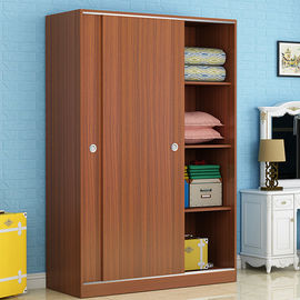 China Environmental Friendly Laminated Particle Board Cabinets As White Sliding Door Wardrobe factory