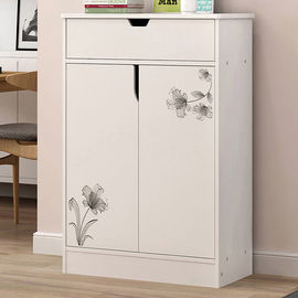 China Melamine Coated Particle Board Wooden Shoe Storage Cabinet White Environmental Friendly factory