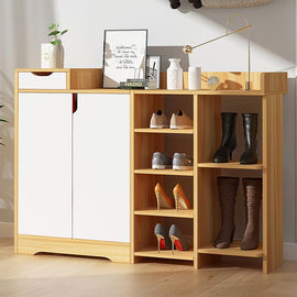 Fire Resistant Melamine Particle Board Shoe Rack , Contemporary Shoe Cabinet