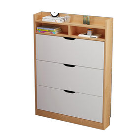China Living Room Storage Solid Wood Shoe Storage Cabinet Multi Function Moisture Proof factory