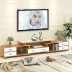 Waterproof Wall Mounted TV Cabinet / Luxury Large Solid Wood Corner TV Stand